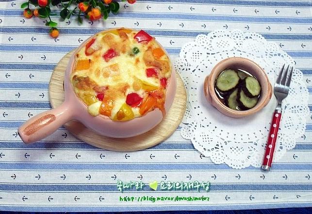 떡볶이떡과 단호박을 함께 먹을수 있는 떡볶이 품은 단호박 치즈그라탱