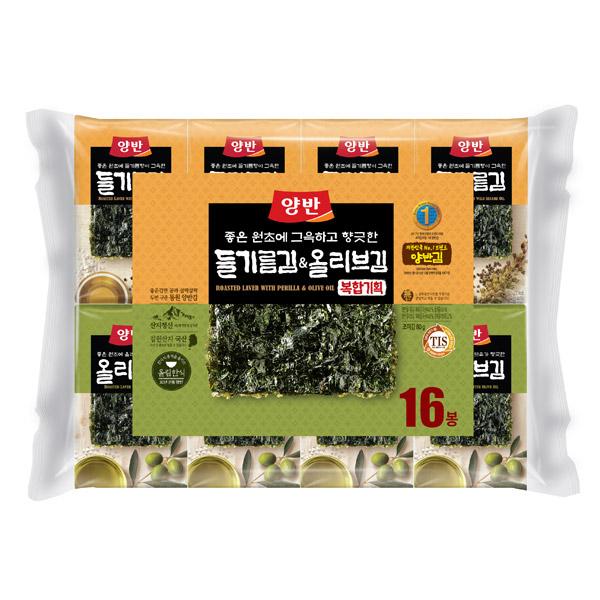 [동원] 양반 식탁김 들기름김 8봉+올리브김 8봉 (총16봉*10매)