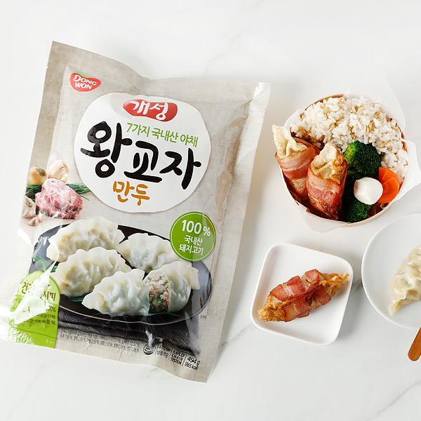 [동원] 개성 제주돼지 왕교자만두 494gx2봉