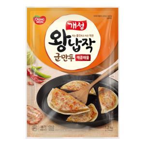 [동원]개성왕납작군만두 매콤해물 1.2kg