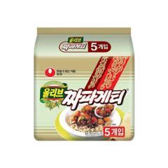 [농심] 올리브 짜파게티 5봉 (멀티)