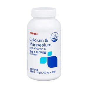 GNC 칼슘&마그네슘 위드 비타민D (90)