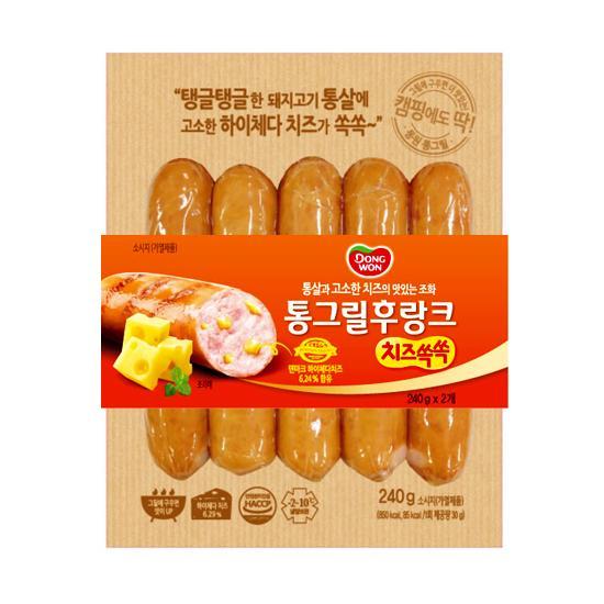 [동원] 통그릴 후랑크 치즈쏙쏙 240g*2