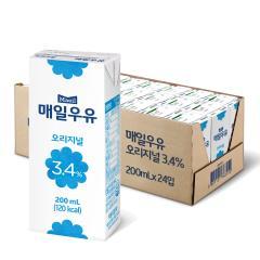 [매일유업] 매일우유_멸균오리지널_200ml*24팩(1박스)/유통기한 : 2019.06.26