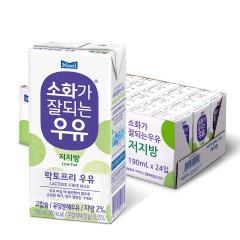 [매일유업] 소화가잘되는우유_멸균(저지방)_190ml*24팩(1박스)