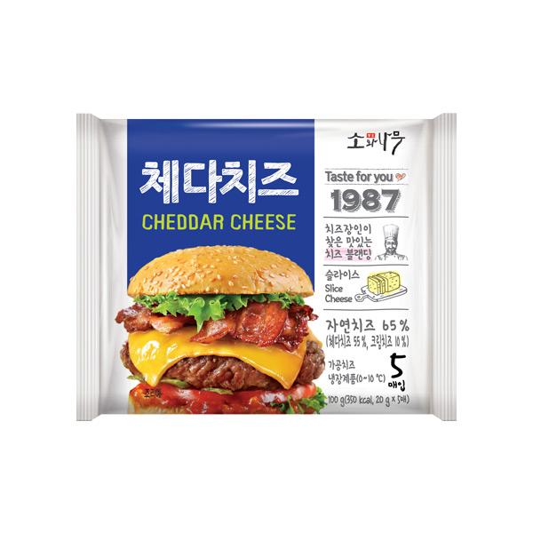 [소와나무] 체다치즈 100g(20g*5매)