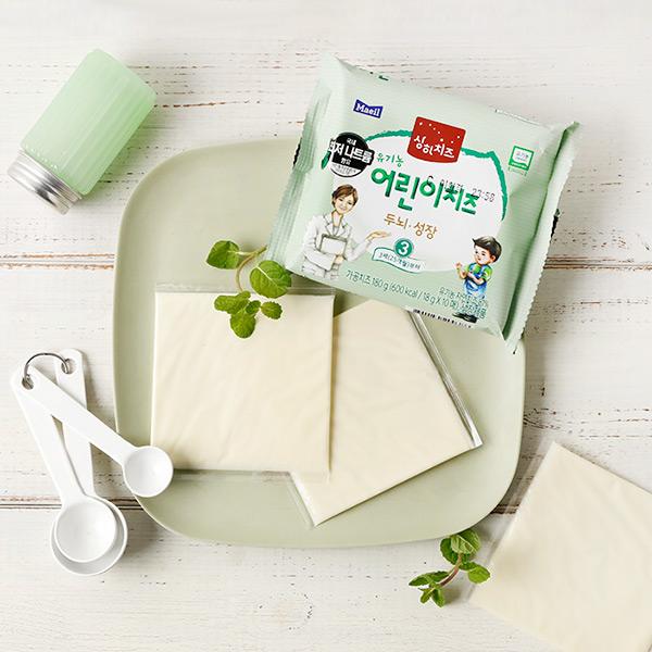 [매일 상하치즈] 3STEP 유기농 어린이치즈 3세(25개월)부터 180g(18gx10매)