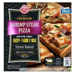 [오뚜기] 쉬림프&스테이크 피자 430g