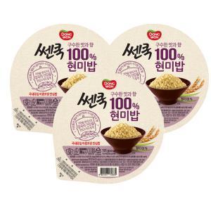 100% 현미밥 195g 3입 기획