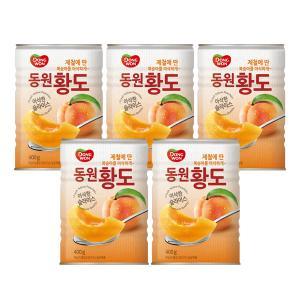 [동원] 복숭아 황도 슬라이스 400g*5캔