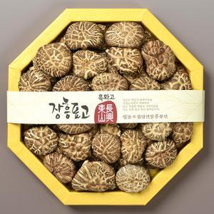 [장흥동산영농조합] 표고버섯 흑화고선물세트 400g/고급한지채반