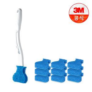 [3M] 일회용 변기솔 크린스틱 핸들+리필10개