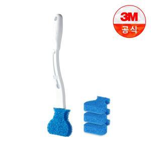 [3M] 일회용 변기솔 크린스틱 핸들+리필4개