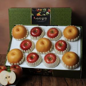 [아리알찬]사과.배 혼합세트 5.0kg이상(사과6입,배5입)