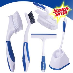 [3M] 욕실 청소도구 필수구비 알뜰세트(변기브러쉬+타일및틈새브러쉬+다용도브러쉬+핸디브러쉬+유리닦이 각1개)