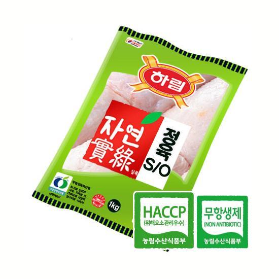 [하림] 자연실록 껍질있는 닭다리살 정육 S/O 1kg