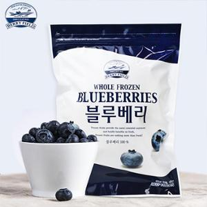 [베리필드] A등급 아이스 블루베리 1kg / 무설탕 / 무색소 / 무방부제 /  블루베리 100%