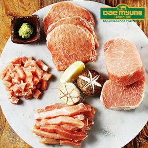 [대명축산]담백한 돼지 등심잡채용/탕수육/카레/돈까스/덩어리 선택(500g/국내산)
