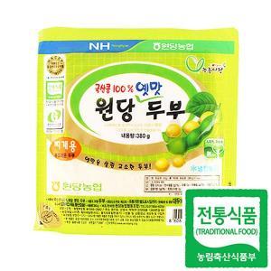 [이팜] 국산 콩 100% 원당 옛맛 두부 (찌개용)(380g)