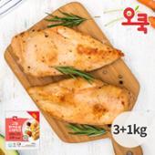 ♥하루특가♥ [오쿡] 오리지날 닭가슴살 3kg+1kg (총4kg) / 200g*20팩 / 훈제닭가슴살