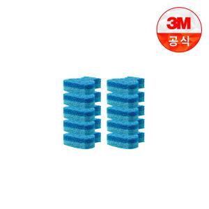 [3M]아이디어변기솔 크린스틱 더블액션 리필 9입