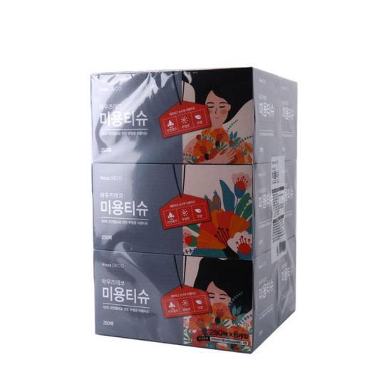 [메가마트] 메가마트 미용 티슈 250매*6개