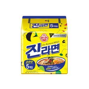 [메가마트] 오뚜기 진라면 순한맛 120g*5개
