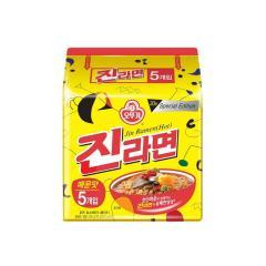 [메가마트] 오뚜기 진라면 매운맛 120g*5개 /5+1