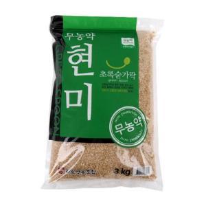 [메가마트] 무농약 현미 3kg