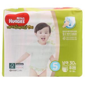 [메가마트] 하기스네이처팬티5남아용(특대형)특대형 30매