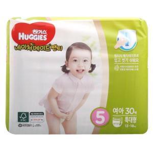[메가마트] 하기스네이처팬티5여아용(특대형)특대형 30매