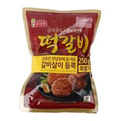 [메가마트] 롯데햄 의성마늘 떡갈비 250g*3