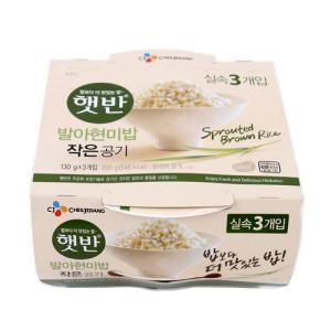 [메가마트] 햇반발아현미밥130g*3개