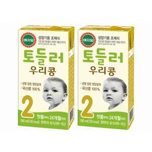 [정식품] 베지밀 토들러 우리콩 2단계(첫돌부터 24개월까지) 190mlx96팩