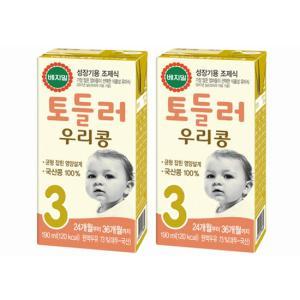[정식품] 베지밀 토들러 우리콩 3단계(24개월부터 36개월까지) 190mlx48팩