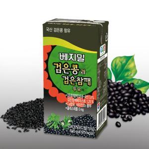 [정식품] 검은콩과검은참깨 베지밀 190ml×72팩