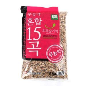 [메가마트] 무농약 맛있는 15곡 3kg/ 혼합곡/ 국내산