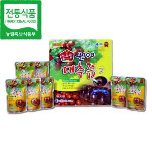 [전통식품 품질인증관] 정스웰 올100 대추즙 120㎖X30팩