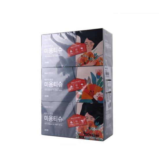 [메가마트] 메가마트 미용 티슈 250매*3개