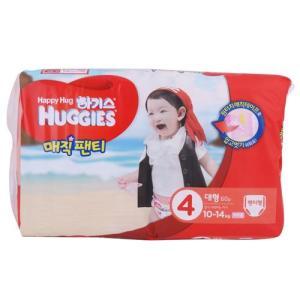 [메가마트] 하기스 매직팬티 4여아용(대형)대형 60매
