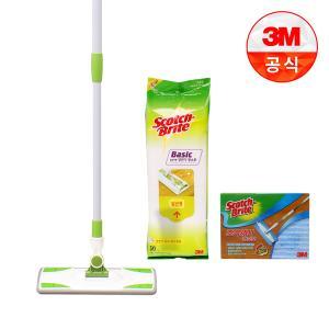 [3M]베이직 막대걸레+정전기청소포 50매+초극세사청소포 1매