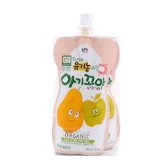 [메가마트] 갈아담은 유기농 과일 아기꼬야 사과,배 100ml*2개