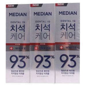 [메가마트] 메디안 치석케어치약화이트 120g*3개