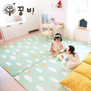 [꿈비 짱짱매트] 소프트라인 매트 양면빅도트 210x140x1.4cm / 러그형 놀이방 아기유아매트