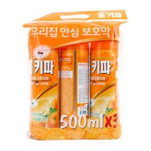 [메가마트] 홈키파내추럴오렌지에어졸500ml*3개