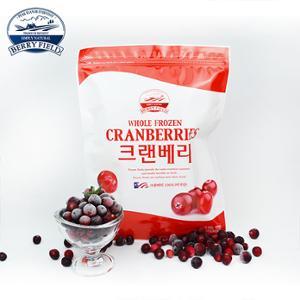 [베리필드]아이스 크랜베리 1kg / 무설탕 / 무색소 / 무방부제 /  크랜베리 100%