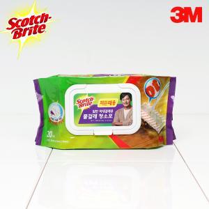 [3M]막대걸레 찌든때용 물걸레청소포 20매