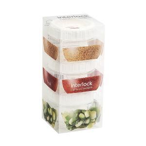[락앤락] 냉장고 문짝정리용기 인터락 좁은형 150ml 3개세트 화이트캡 (밀폐용기)