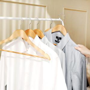 [홈앤하우스] 프리미엄 원목옷걸이 10P