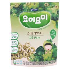 [메가마트] 요미요미 유기농쌀과자 초록 12개월 25g